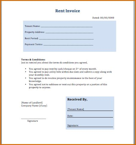 8+ rent invoice template | Authorizationletters.org