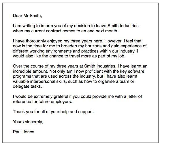 IELTS General Writing: resignation letter - ielts-simon.com