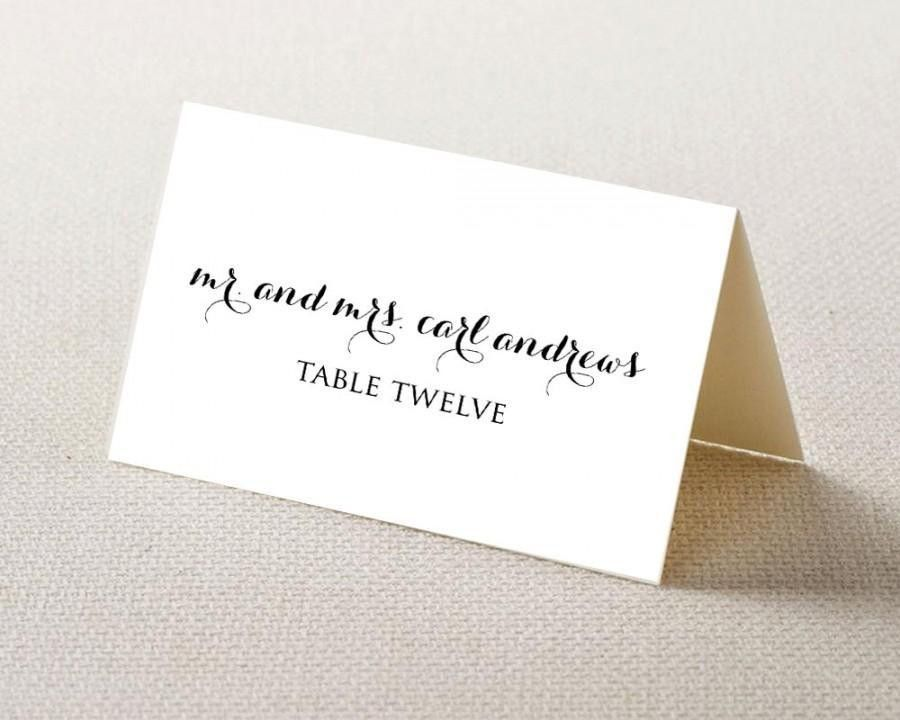 Wedding Place Card Printable Template - Editable Template - PDF ...