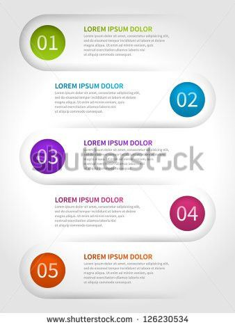 Vector Paper Lines Numbers Design Template Stock Vector 126230534 ...