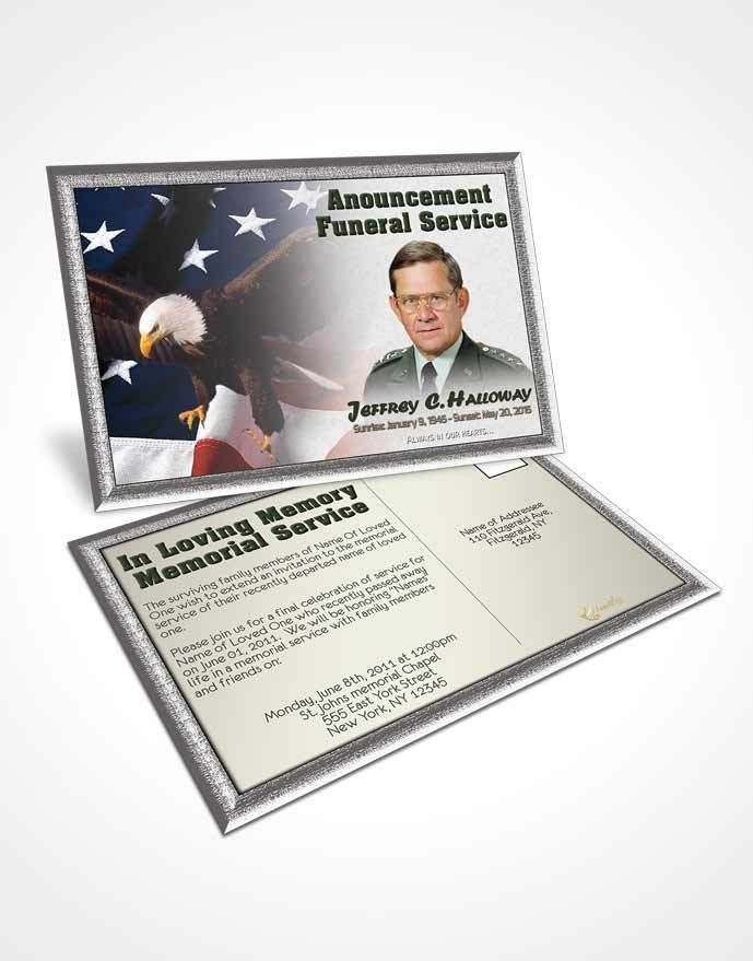 Obituary Template Trifold Brochure 1st Veterans Day Serenity