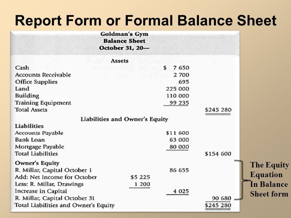Chart of Accounts and Formal Financial Statements  The recording ...