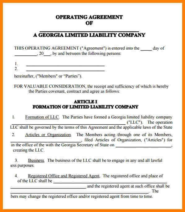 8+ llc operating agreement template | Introduction Letter