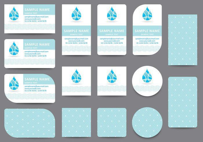 Water Name Card Templates - Download Free Vector Art, Stock ...