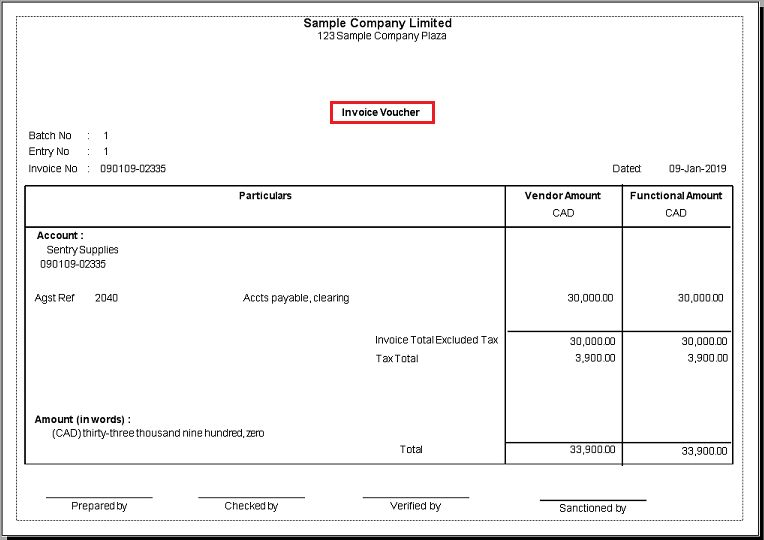 AP Invoice and Payment Voucher -Greytrix extended report pack ...