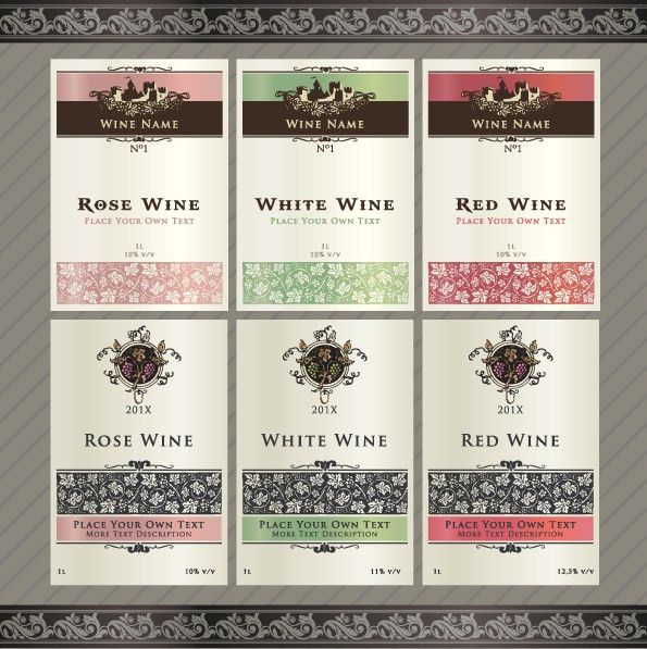 13 Free Wine Label Design Template Images - Free Printable Label ...