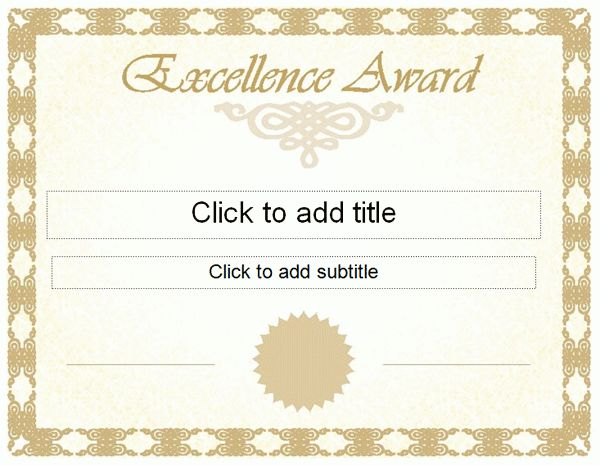 Free Printable Certificate of Excellence Template : Helloalive