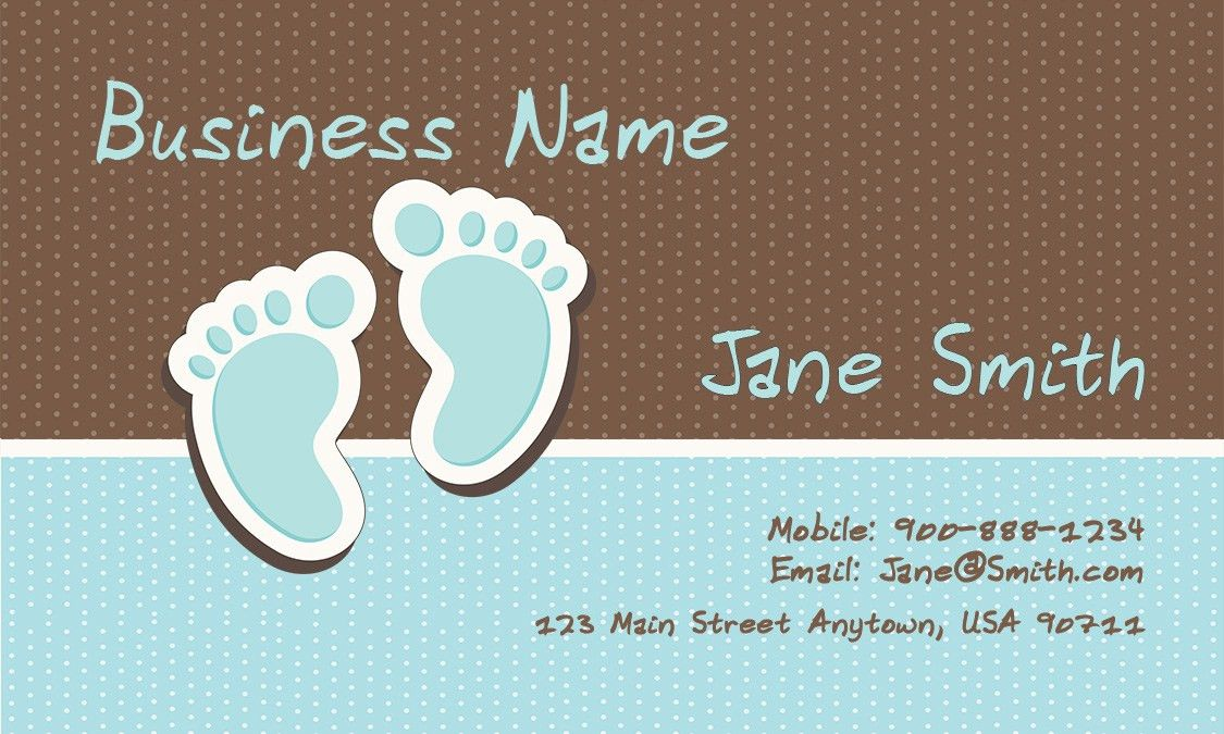 Cheerful Babysitter Business Card - Design #1101061