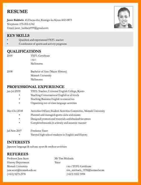8+ cv samples for job application | resume language