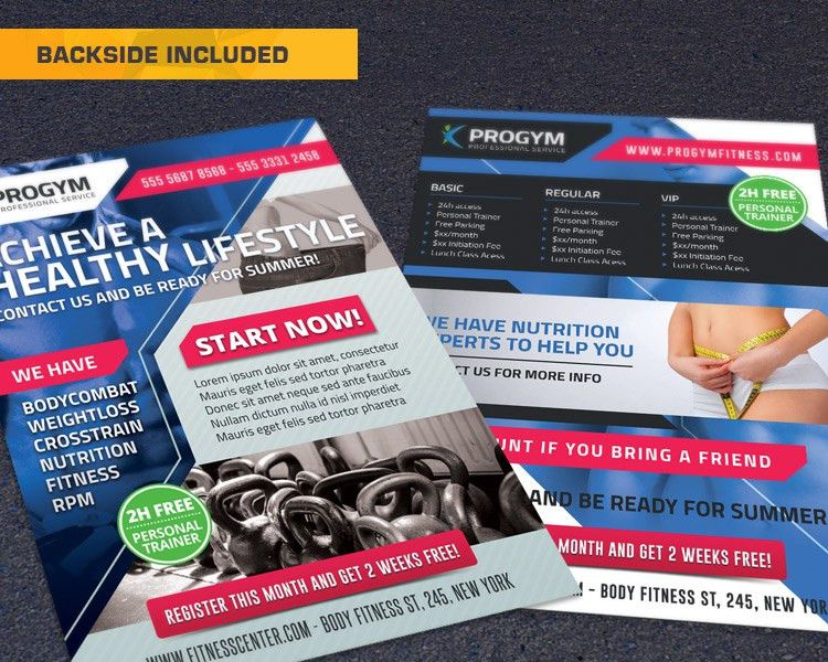 Free Sports Fitness Gym Business Flyer - HollyMolly!