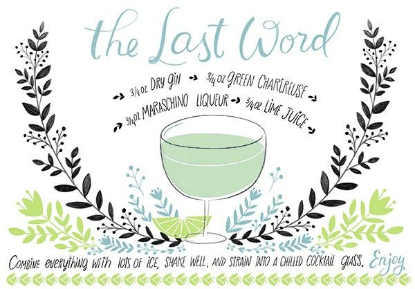 Friday Happy Hour: The Last Word | Recipe cards, Cocktail recipes ...