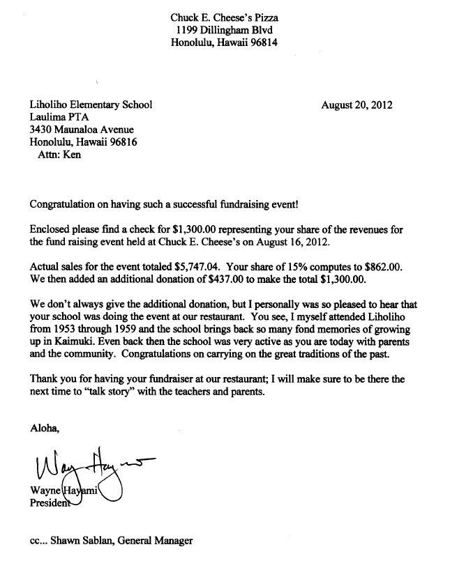 Thank You Letter To Parents. Students And Parents Can Write A ...