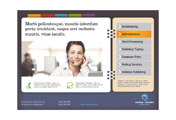 Secretarial Services Print Template Pack from Serif.com