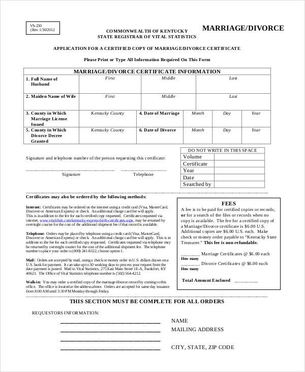 Divorce Certificate Template - 7+ Free Word, PDF Document ...