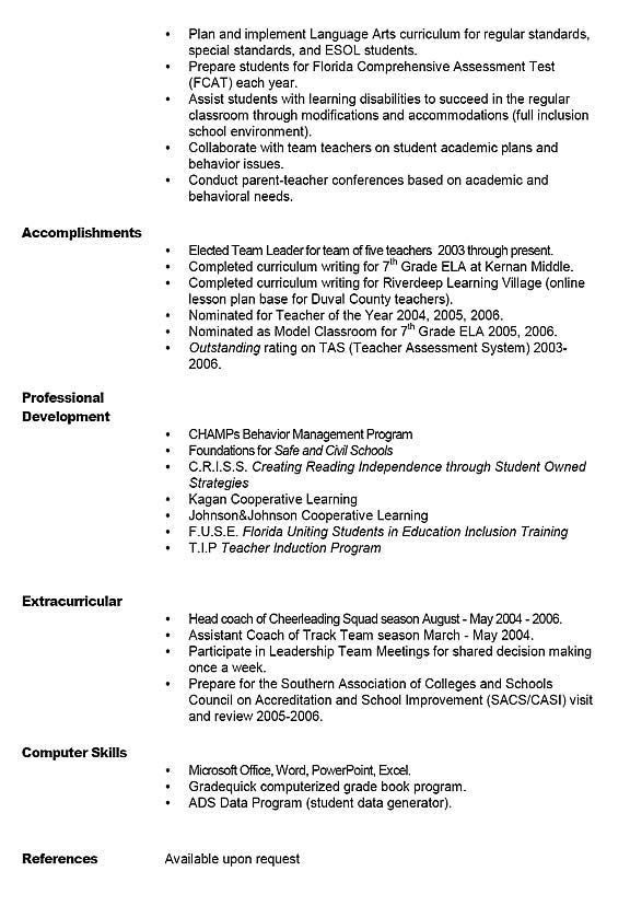 40 best Teacher Resume Examples images on Pinterest | Resume ideas ...