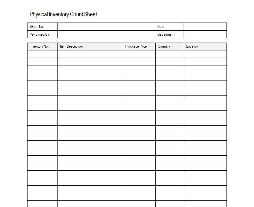 log sheet template