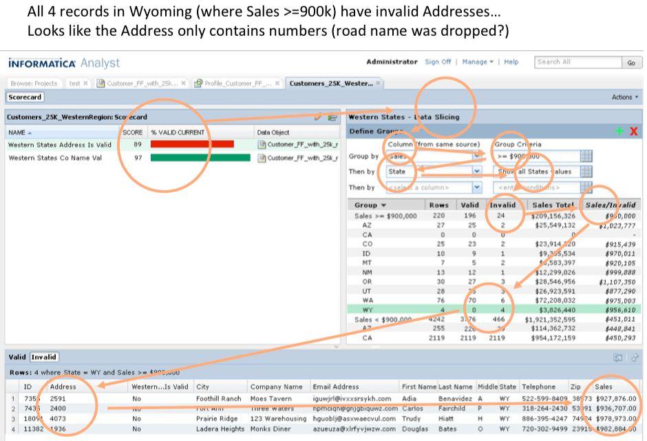 Informatica Analyst DQ Scorecard | Michael Cytrynowicz Portfolio