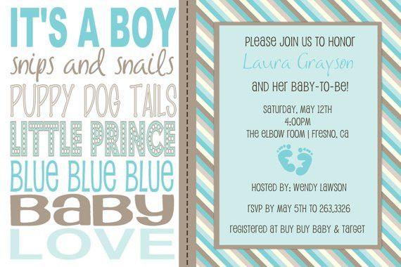 Baby Shower Invitation Wording For A Boy | futureclim.info