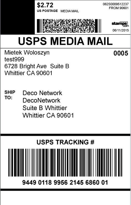 How to print live shipping labels for UPS and USPS in DecoNetwork?