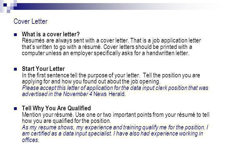 English Language Arts 20-2 Résumé and Cover Letter. - ppt download