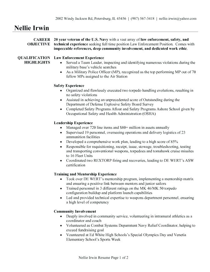 100+ [ Sample Veteran Resume ] | Army Veteran Resume Reentrycorps ...