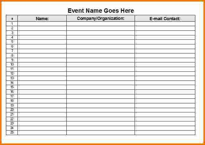 4+ sign in sheet template | Expense Report