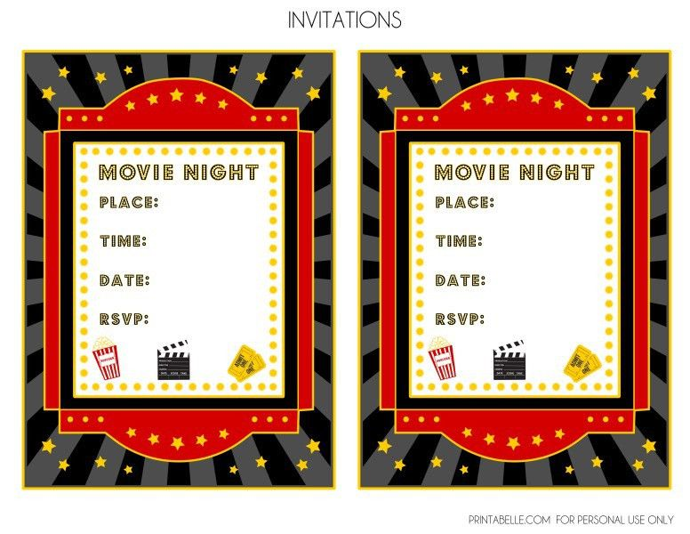 FREE Movie Night Party Printables by Printabelle | Catch My Party