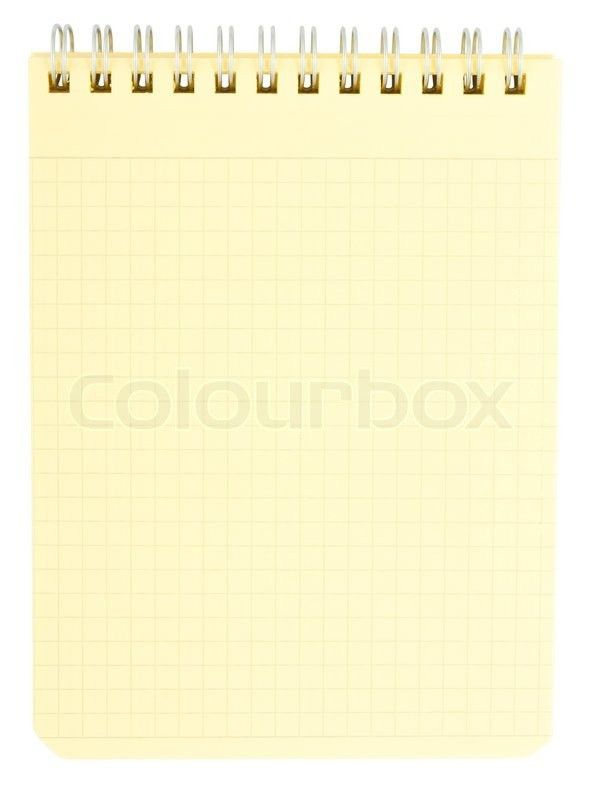 Yellow notepad isolated on white background | Stock Photo | Colourbox