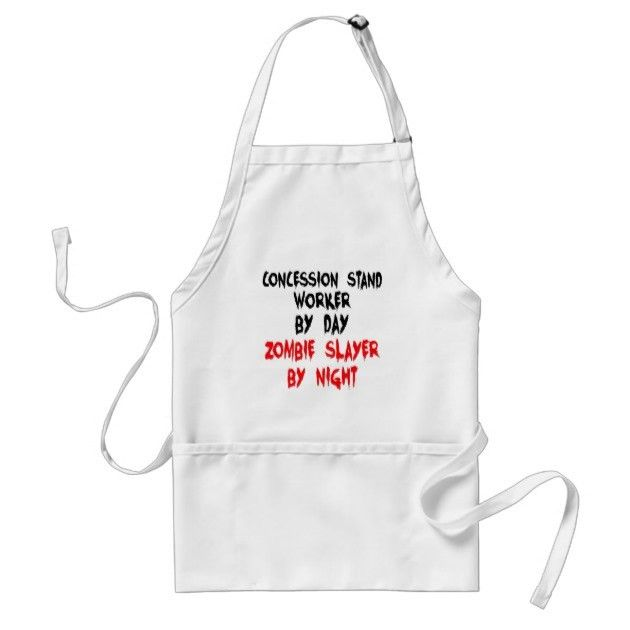 Concession Stand Worker Zombie Slayer Adult Apron | Zazzle.com