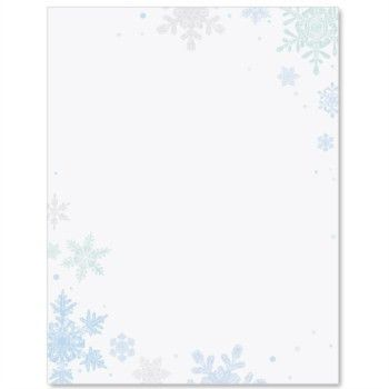 Scattered Snowflakes PaperFrames Custom Border Papers | PaperDirect