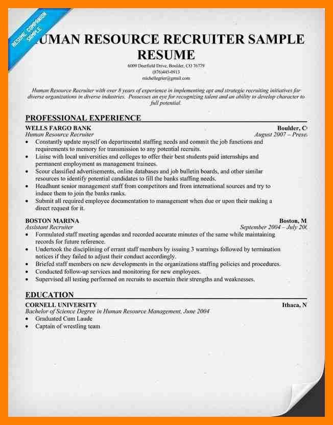 human resource recruiters resume recruiter resume hrrecruiter
