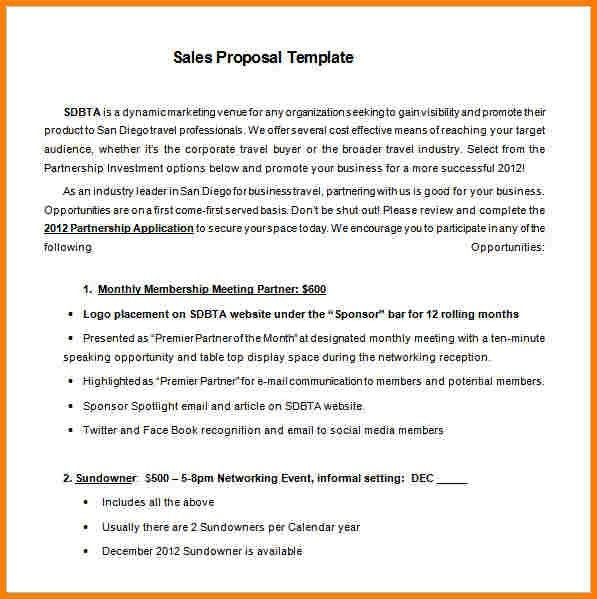 9+ sales proposal example | Proposal Template 2017
