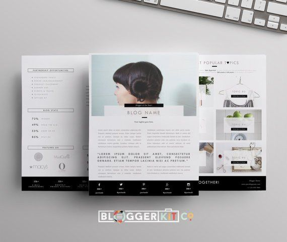 Media Kit Template 3-Pages Press Kit Template Electronic