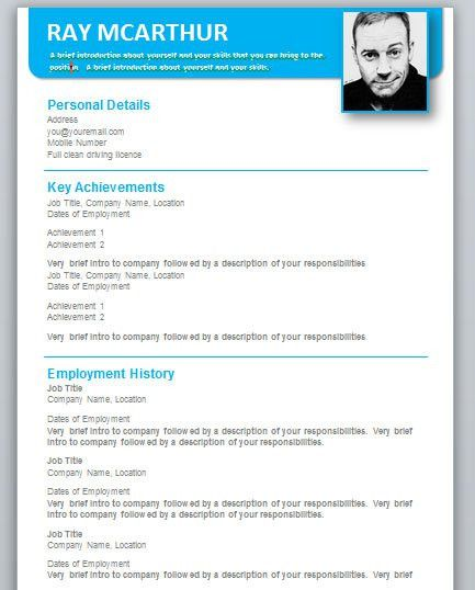 Word Resume Template Free. Free Resume Templates In Word | Resume ...