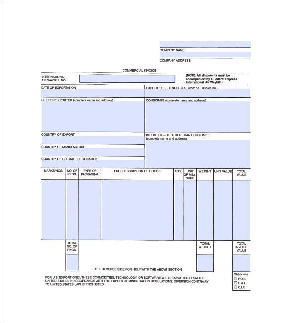 General Invoice Template - 7+ Free Word, Excel, PDF Format ...
