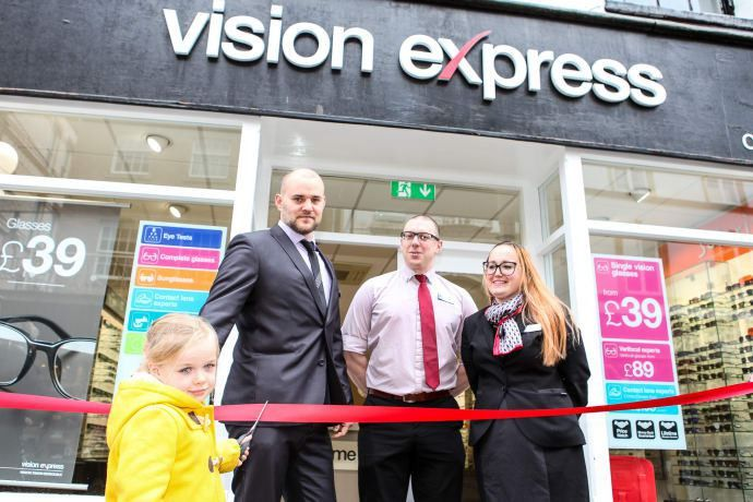Braunton youngster helps local optician celebrate relaunch after ...