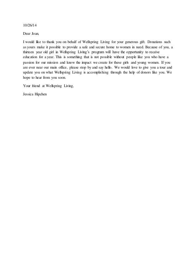 Thank You Letter. Thank You Letter 05 30 Thank You Letter ...