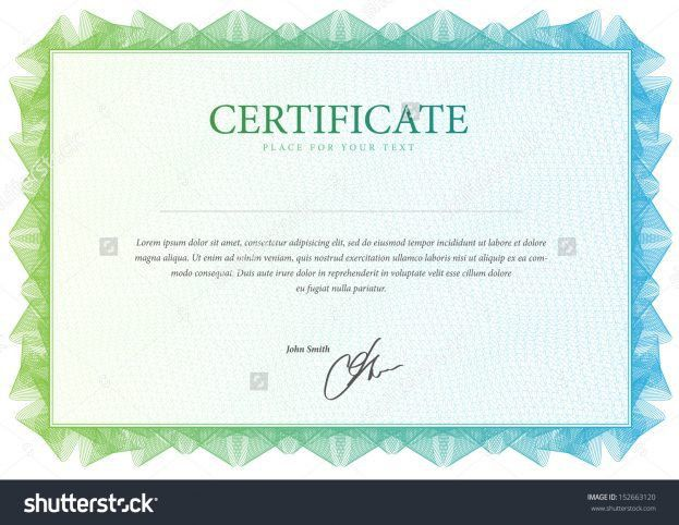 certificate template 13 share/stock certificate templates blank ...