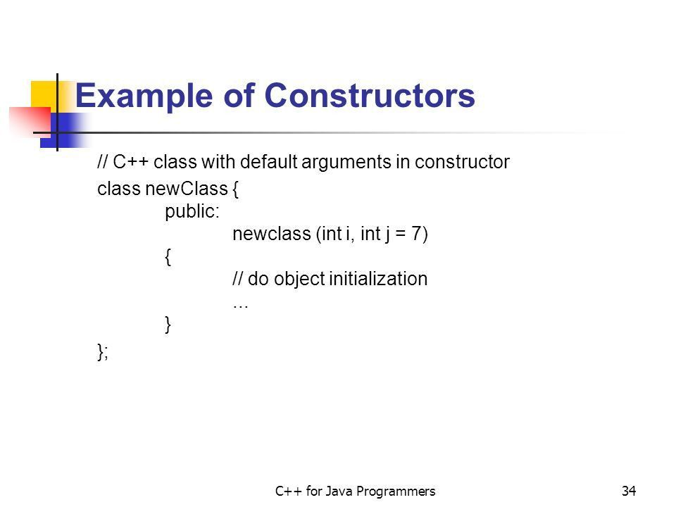 C++ for Java Programmers - ppt download