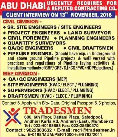CIVIL ENGINEERING JOBS IN GULF COUNTRIES