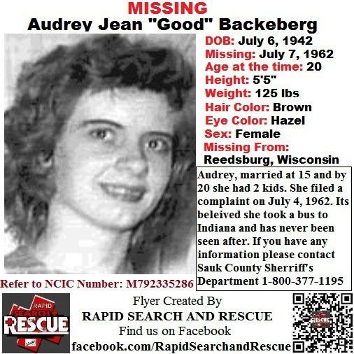 Current Missing Person flyers from Wisconsin in the 1950s To ...