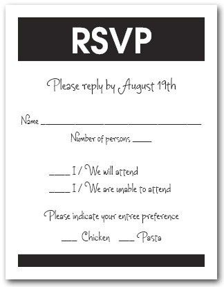 RSVP Cards, Response Cards - Lots of colors and Styles