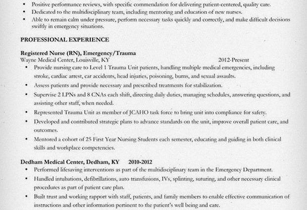 Mid Level Nurse Resume Sample 2015 professional experience ...