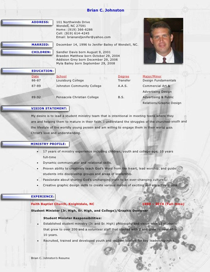 19+ [ Cv Outreach ] | Brian Johnston Ministry Resume,Naval History ...