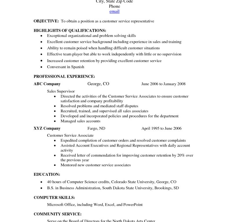 Well-Suited Design Skills For Customer Service Resume 7 Customer ...
