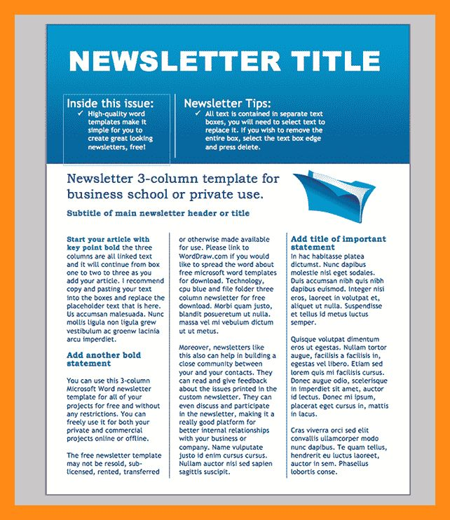 13+ word newsletter templates | actor resumed