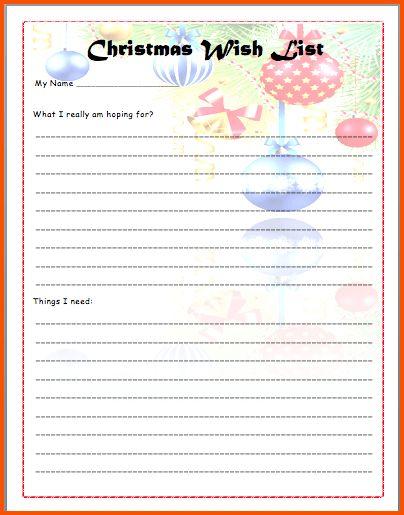 6+ christmas wish list template | Survey Template Words