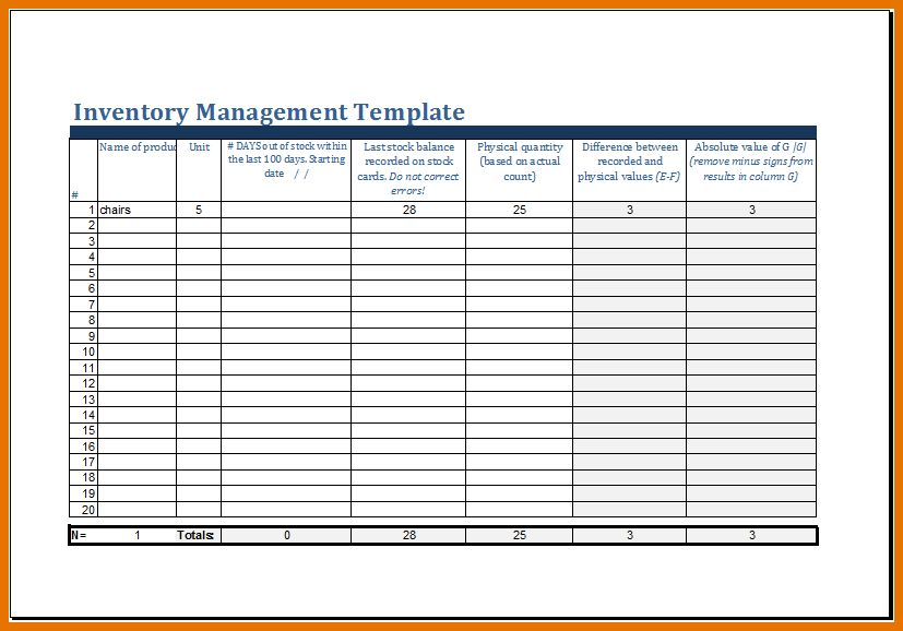 7+ excel inventory management template | Itinerary Template Sample