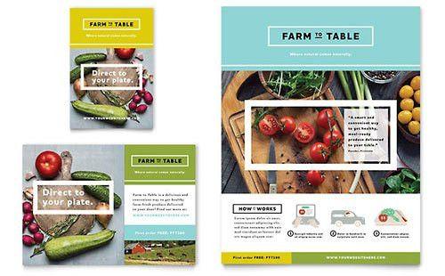 Food & Beverage Print Ads   Templates & Designs