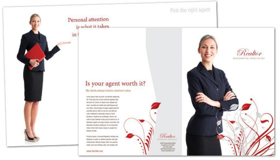 Tri Fold Brochure template for Real Estate Agent. Order Custom Tri ...